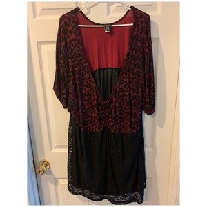 Maroon and black torrid shirt